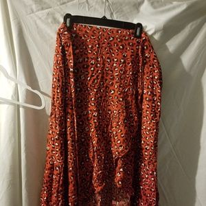 A New Day Orange/Brown Skirt XXL NWT